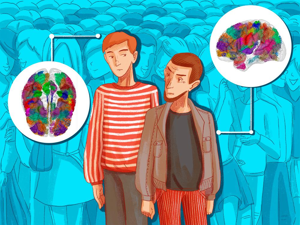 Illustration imagerie cérébrale et cognition sociale
