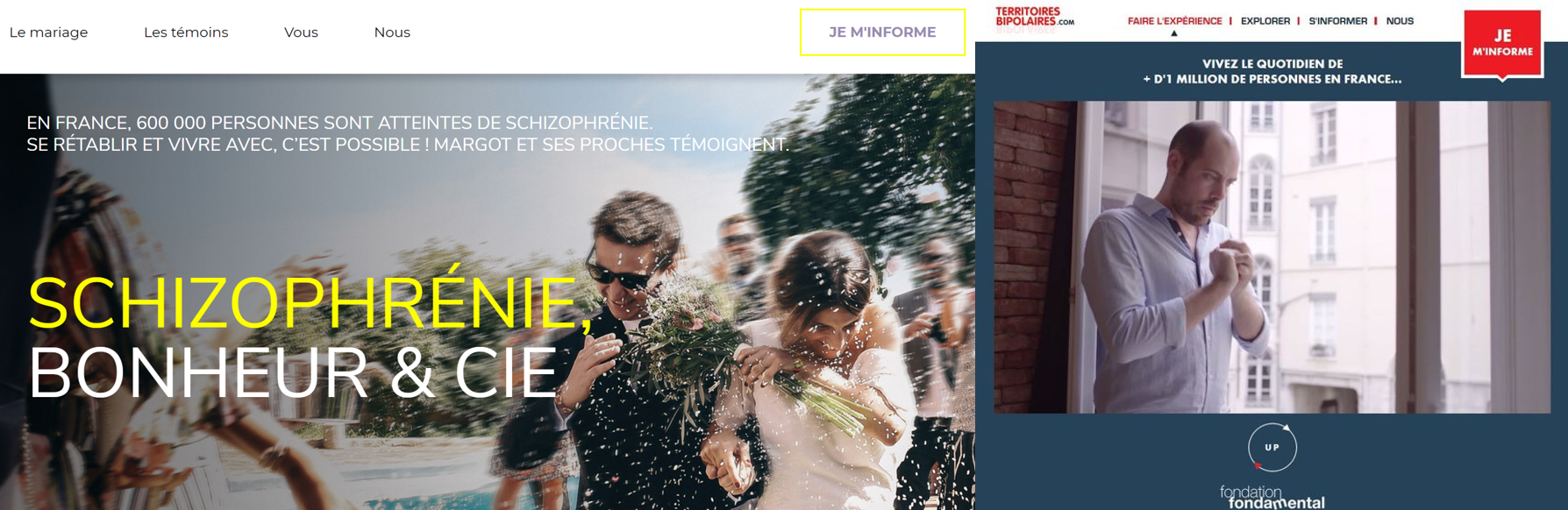 """Les campagnes """"Schizophrénie, bonheur et cie"""" et  """"Territoires Bipolaires"""""""