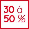 30 à 50%