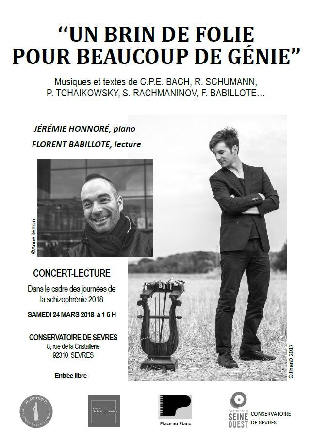 Concert-lecture Journées francophones de la schizophrénie