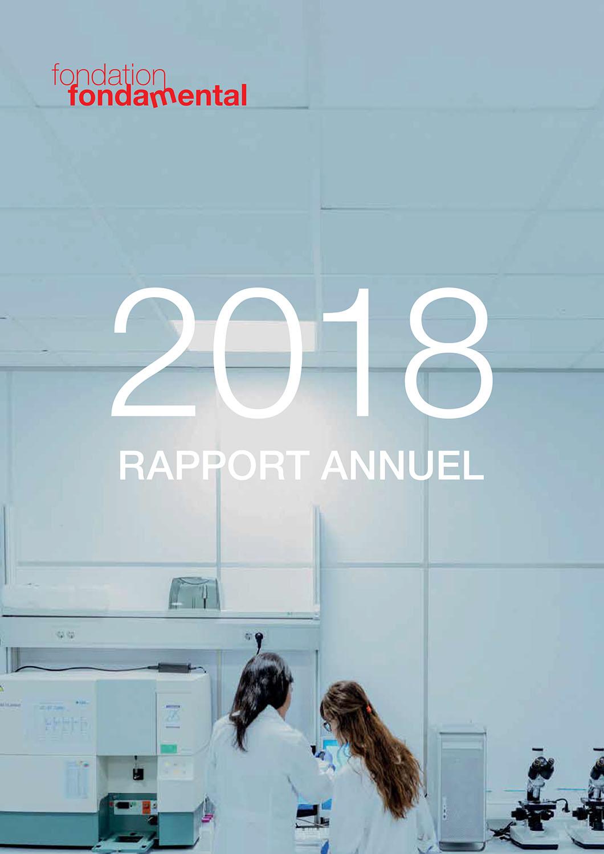 Couverture du rapport d'activité 2018