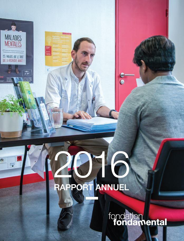 Couverture du rapport d'activité 2016