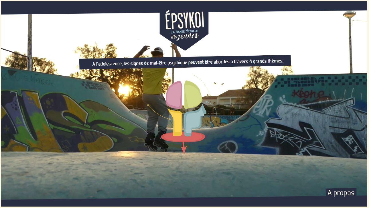 Epsykoi, page d'accueil jeune homme