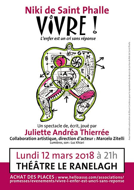 Affiche du spectacle Vivre de Juliette Andréa Thierrée