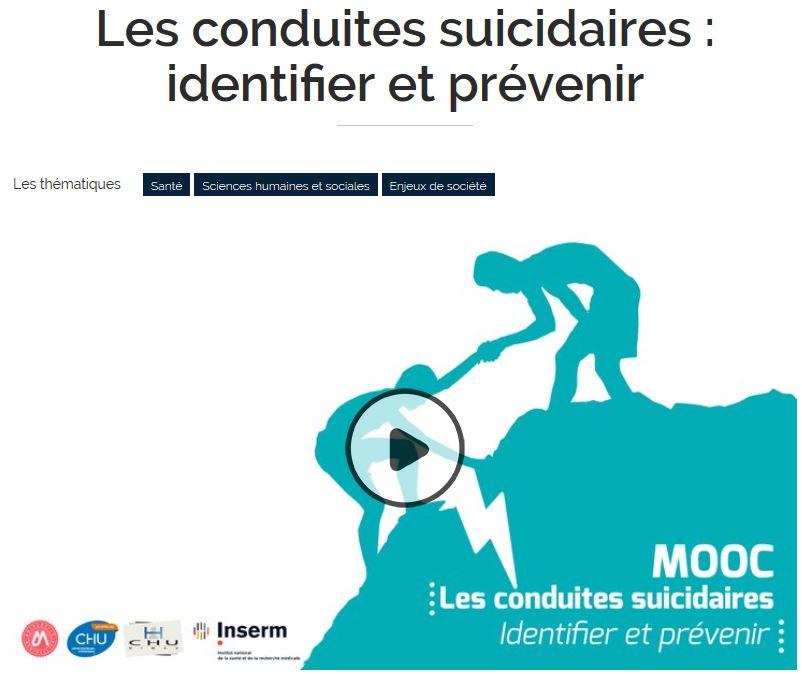 MOOC sur les conduites suicidaires