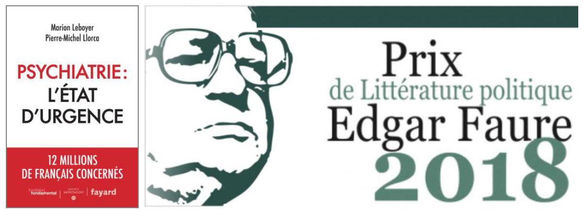 """""""Psychiatrie: l' état d'urgence"""" reçoit le Prix Edgar Faure"""