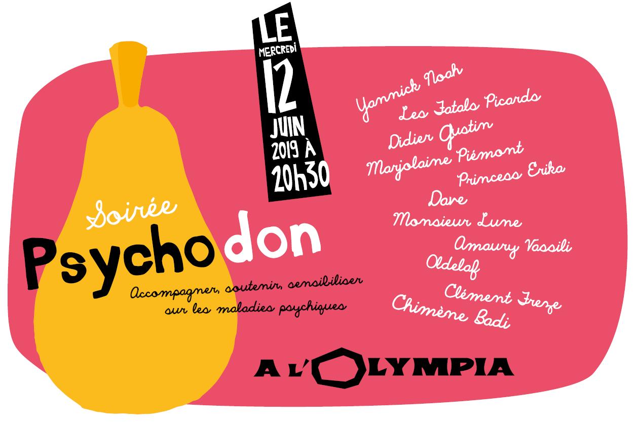Affiche de l'édition 2019 du Psychodon à l'Olympia