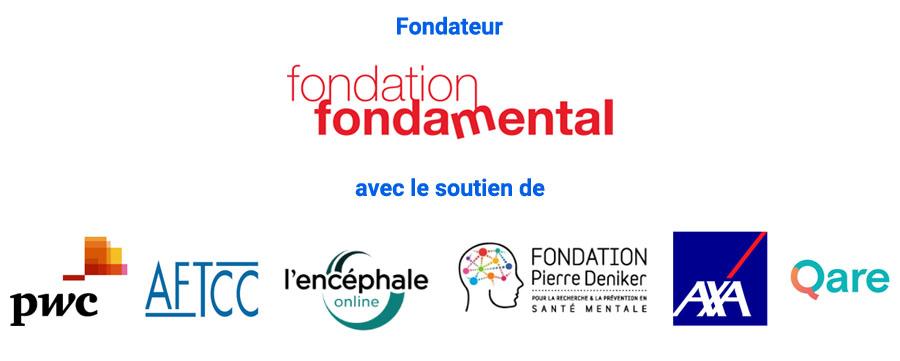 La Fondation FondaMental et les soutiens de CovidÉcoute, PwC, AXA et sa plateforme Qare, l'AFTCC, l'Encéphale online et la Fondation Pierre Deniker