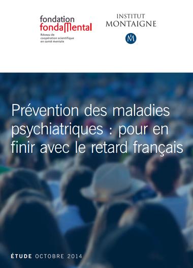 Couverture de l'étude Prévention des maladies psychiatriques cosignée avec l'Institut Montaigne