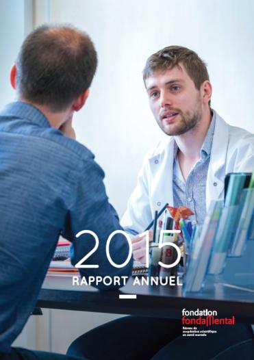 Couverture du rapport d'activité 2015 entier