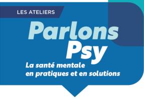 Logo du cycle de rencontres Parlons Psy, une initiative de l'Institut Montaigne et de la Fondation de France