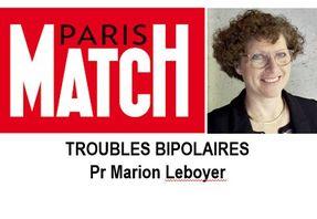 Paris Match, interview du Pr Marion Leboyer, directrice de la Fondation FondaMental