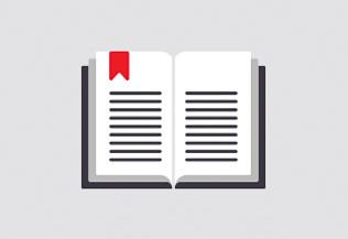 un pictogramme représentant un livre ou un journal - actualités scientifiques