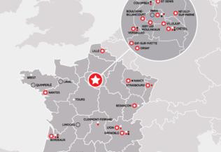 Carte du réseau de la Fondation FondaMental
