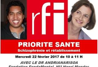 RFI, Dr Andrianarisoa et Claire Hedon sur schizophrénie et rétablissement