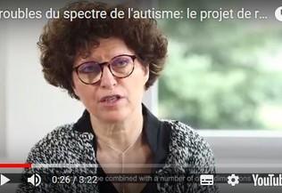 Le Pr marion Leboyer présente le projet de recherche InFoR-Autism